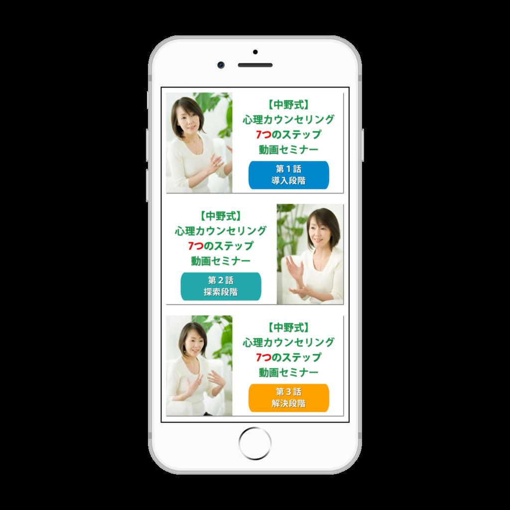 【中野式】心理カウンセリング 7つのステップ 動画セミナー